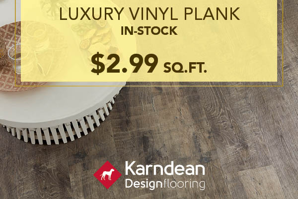 In-Stock Karndean Luxury Vinyl Plank only $2.99 sq.ft. this month at Witt Flooring!
