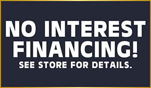 0% interest financing available!  Contact us today to get started!