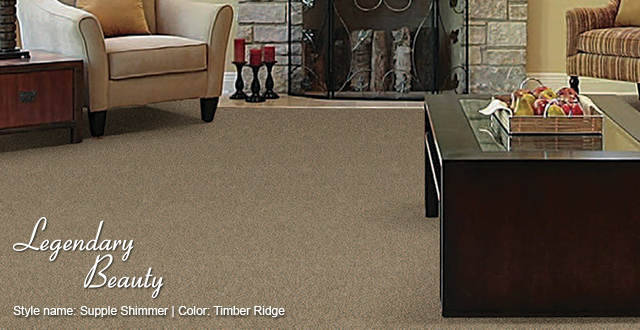 Legendary Beauty Carpet. Style Name: Supple Shimmer | Color: Timber Ridge.